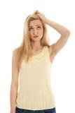 piękni blondynki emoci kobiety potomstwa Obraz Royalty Free