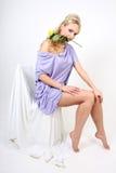 piękni blondynki kwiatu potomstwa Obraz Royalty Free