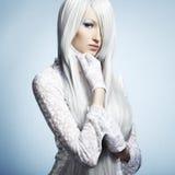 piękni blondynki mody portreta kobiety potomstwa Zdjęcia Royalty Free