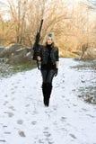 piękni blondynki pistoletu potomstwa Zdjęcia Royalty Free