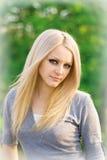 piękni blondynki portreta potomstwa Obrazy Royalty Free