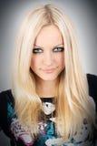 piękni blondynki portreta potomstwa Zdjęcia Royalty Free