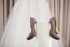 Piękni bridal buty Zdjęcie Stock