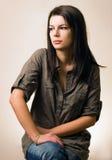 piękni brunetki dziewczyny portreta potomstwa Fotografia Stock