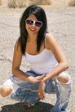 piękni brunetki kobiety potomstwa Zdjęcia Stock