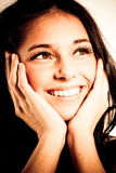 piękni brunetki modela potomstwa Fotografia Royalty Free