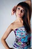 piękni brunetki portreta potomstwa Zdjęcie Stock
