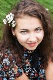 piękni brunetki portreta potomstwa Obrazy Royalty Free
