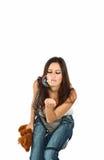 piękni brunetki portreta potomstwa Zdjęcia Stock