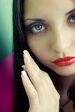 piękni brunetki twarzy potomstwa Fotografia Royalty Free