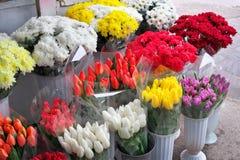 Piękni bukiety kwiaty Zdjęcie Stock