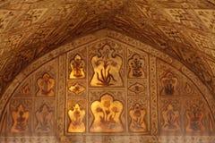 Piękni cyzelowania inside Diwan-i-khas i projekty Zdjęcie Stock