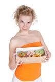 piękni donuts kobiety potomstwa Zdjęcia Stock