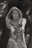 piękni dziewczyny parka potomstwa Obrazy Royalty Free