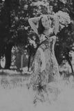 piękni dziewczyny parka potomstwa Fotografia Stock