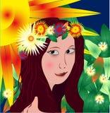 piękni dziewczyny wektoru potomstwa royalty ilustracja