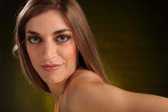 piękni headshot krajobrazu kobiety potomstwa Fotografia Royalty Free