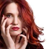 piękni jaskrawy twarzy makeup kobiety potomstwa Zdjęcie Stock