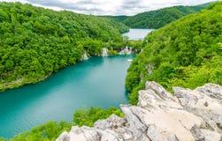 Piękni jeziora w lecie Fotografia Royalty Free