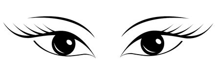 Piękni kobiety ` s oczy Obraz Stock