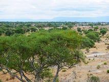 Piękni krajobrazy Afryka Zdjęcia Royalty Free