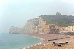 Piękni krajobrazy Etretat obrazy royalty free