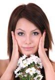 piękni kwiatu biel potomstwa zdjęcie stock