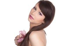 piękni kwiatu kobiety potomstwa Zdjęcia Stock