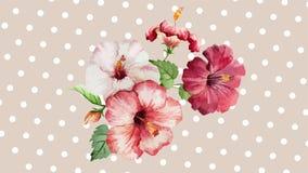 Piękni kwiaty Trzy Fotografia Stock