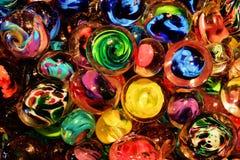 Piękni marmurów zawijasy Zdjęcie Stock