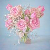 Piękni menchia kwiaty Fotografia Royalty Free