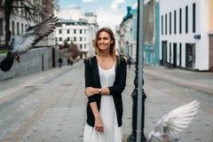 piękni miasta kobiety potomstwa E fotografia stock