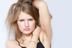 piękni mody modela portreta potomstwa Fotografia Stock