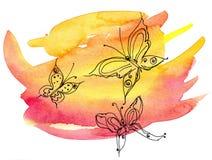 piękni motyle wyszczególniali ilustracja rysunkowego graficznego wektor Obrazy Royalty Free