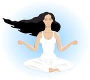 piękni odosobneni relaksu kobiety joga potomstwa Fotografia Royalty Free
