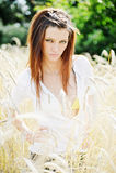 piękni outdoors kobiety potomstwa Obrazy Royalty Free