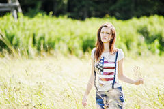 piękni outdoors kobiety potomstwa Zdjęcia Stock