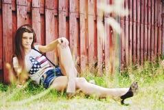 piękni outdoors kobiety potomstwa Obrazy Stock