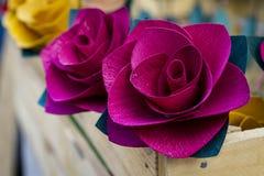 Piękni papierowi kwiaty Obraz Royalty Free