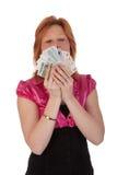 piękni pieniądze kobiety potomstwa zdjęcia stock