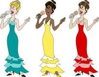 piękni piosenkarzi Obrazy Royalty Free
