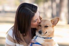 piękni psi kobiet potomstwa Fotografia Royalty Free