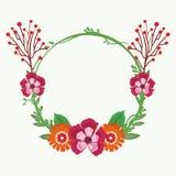 Piękni rama kwiaty Zdjęcia Stock