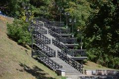 Piękni schodki w parku Fotografia Stock