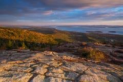 Piękni spadków kolory Acadia, Maine Fotografia Royalty Free