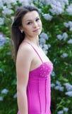 piękni sukni menchii kobiety potomstwa Obraz Stock