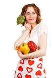 piękni wiązki gospodyni domowej warzywa fotografia stock