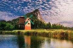Piękni wiatraczki w parkowy wschodni Tajlandia Zdjęcie Stock
