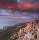Piękni widoki Krymskie góry Fotografia Royalty Free