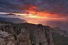 Piękni widoki Krymskie góry Obrazy Stock